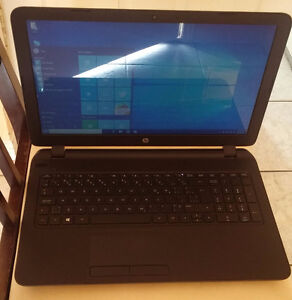 great condition fast black slim hp 15. just over a year old