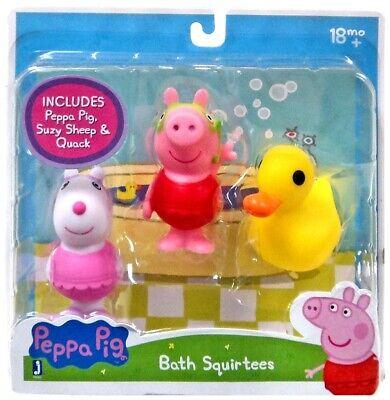 Jazwares Peppa Pig Bath Squirters Set of 3 Peppa Pig Suzy Sheep Quack  NEW!