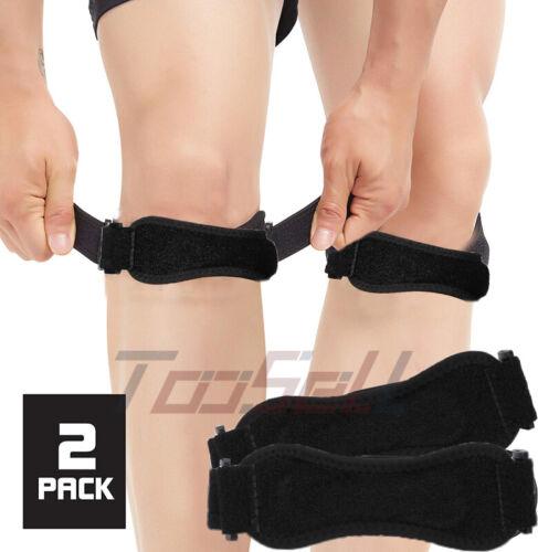 2pcs New Gym Run Knee Kneecap Patella Support Brace Strap Te