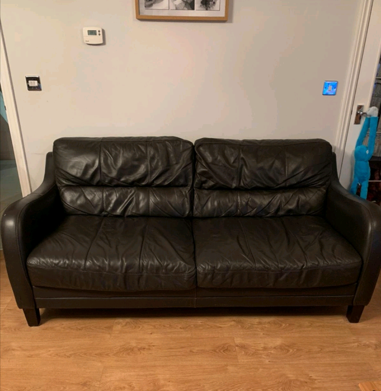 DFS quality brown leather sofa settee in GLOUCESTER | in Arnold, Nottinghamshire | Gumtree