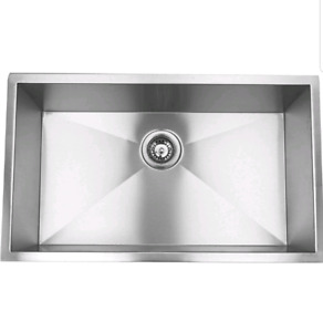 "Blue Ocean 32"" KSR105 16 Gauge SS Undermount Kitchen Sink"