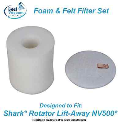 Foam & Felt Filter set for Shark Rotator Lift-Away Vacuum NV500 - NV503, XFF500