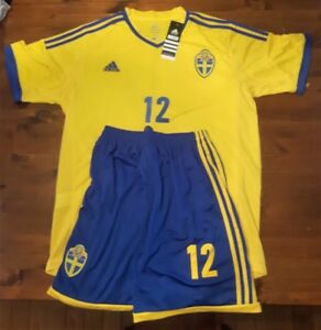 Various soccer jerseys & shorts - Sweden, Italy, England, etc