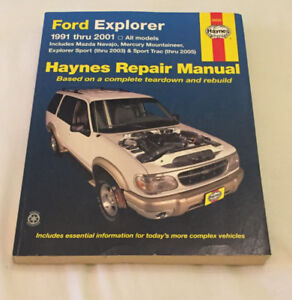 FORD EXPLORER 1991-2001 MAZDA MERCURYHAYNES MANUAL