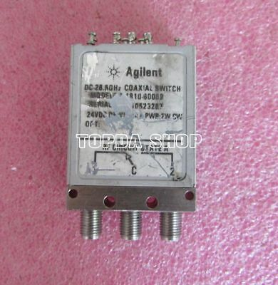 HP / Agilent 24V DC-26.5GHz SMA connector SPDT RF microwave coaxial switch