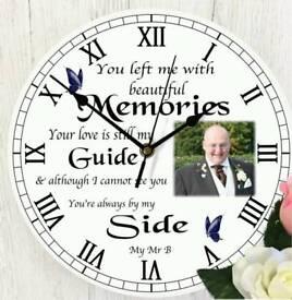 Personalised wall clocks