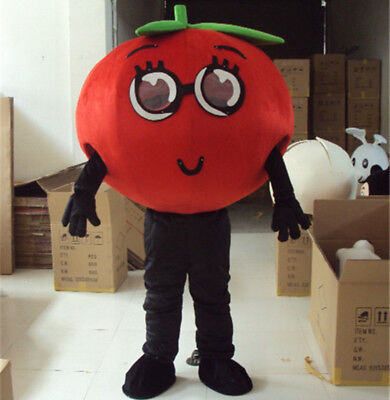 Party Costumes Stores (NEW Advertising Adult Tomato Mascot Costume Vegetables Suit Store Dress)