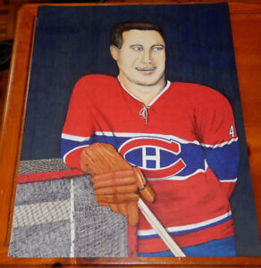 DESSIN ORIG. JEAN BELIVEAU MONTREAL CANADIEN HOCKEY BIG DRAWING