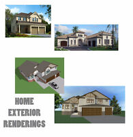CUSTOM HOME DESIGN DRAFTING PERMITS only $0.5 / sq ft.