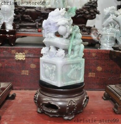 Details about  /Antique Estate Chinese Natural Untreated Jadeite Emerald Jade Carved Saddle Ring
