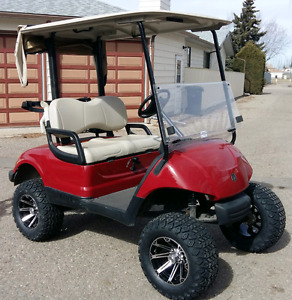Lifted Gas Yamaha Golf Cart