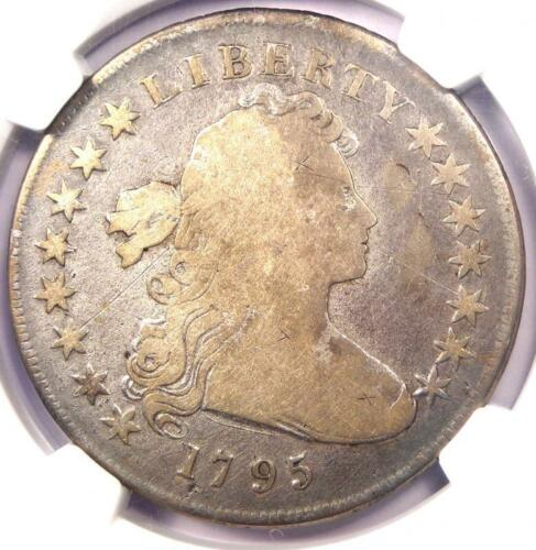 1795 Draped Bust Silver Dollar ($1 Coin, Small Eagle, BB-52 B-15) NGC VG Details