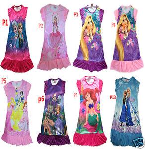 Disney-Princess-Party-Nighty-Dress-PJ-for-girl-3-7-Yrs