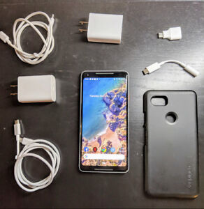 Google Pixel 2XL - 64 gbs - Unlocked - 2 Chargers Included