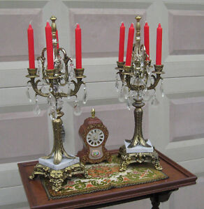 Ornate Vintage Candelabra Pair
