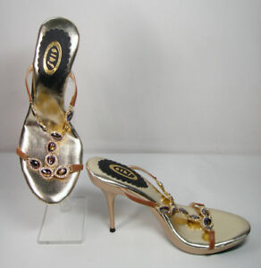 Beautiful High Heel Sandals with Soft Cushions Size 7.5