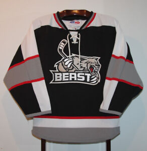 ATHLETIC KNIT ECHL BRAMPTON BEAST HOCKEY JERSEY SIZE YOUTH XL
