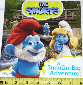 Qty 6 x Smurfs Figures and Book