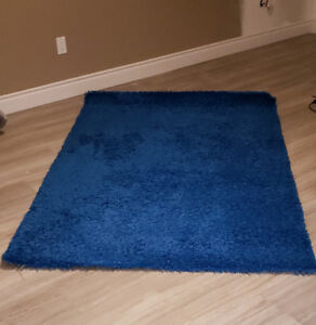 IKEA Area Rug, high pile, blue