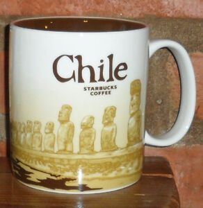 Brand NEW Chile Starbucks mug Discontinued with stickers