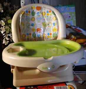Booster seat with removable tray