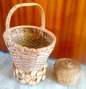 Pair of antique native baskets