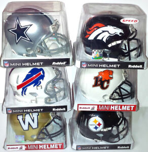 COWBOYS-STEELERS-BILLS-BRONCOS-BOMERS-LIONS MINI FOOTBALL HELMET