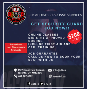 Immediate Response Service | Security guard Training Agency
