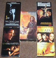 5 VHS(Video Cassette Tapes)CRIME/DRAMA/THRILLER MOVIES