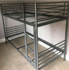 Ikea bunk bed and mattresses. Good condition. Delivery available ext