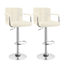 WOLTU Bar Stools Cream Bar Chairs Breakfast Dining Stools for Kitchen