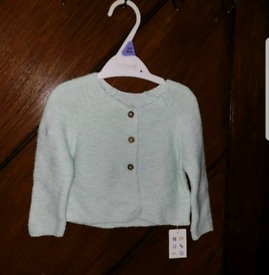 Baby Girl Mint Cardigan