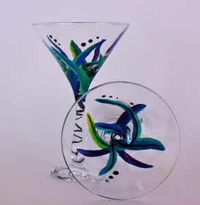 Beautiful Hand-Painted Glassware Kitchener / Waterloo Kitchener Area image 3