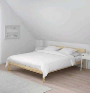 FULL SIZE (DOUBLE) BED FRAME WITH BRAND NEW MATTRESS