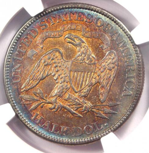 1874-CC Arrows Seated Liberty Half Dollar 50C Coin - Certified NGC AU Details!