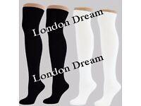 WholeSale Women Ladies Girls Over Knee High Length Long Cotton Socks School Uniform Socks