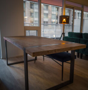 Dining table, barely used, wooden metal