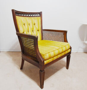 Solid Wood Cane Chair