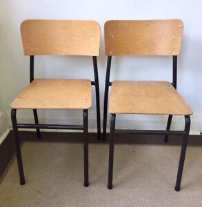 Vintage School Auditorium Chairs