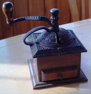 Antique Tabletop Coffee Mill