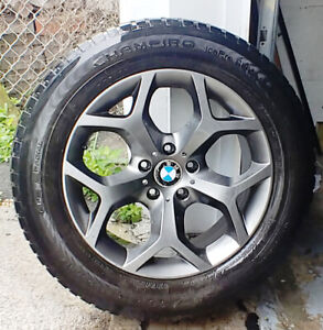 4 mags BMW X5 pneus d'hiver 245-60-18 Bolt pattern 5 x120 mm, of
