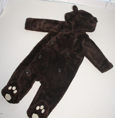 NWOT Baby Gap Brown Sherpa Teddy Bear Ears Hoodie Outfit Size 3-6 Months COZY - Teddy Bear Baby Outfit