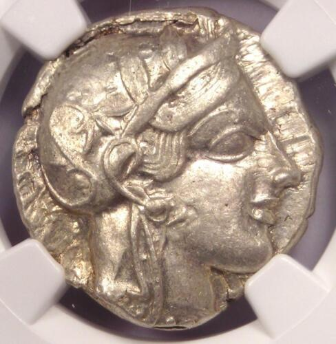 Ancient Athens Greece Athena Owl Tetradrachm Coin (440-404 BC) - NGC AU!