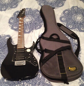 GIO IBANEZ MIKRO ELECTRIC GUITAR WITH CASE