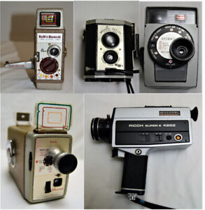 Vintage 8mm Video Cameras Kodak Brownie Bell & Howell