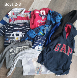 Boys 2-3 years clothes bundle 44 items.