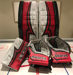 Vaughn V7 Goalie Pads and Gloves-Made In Canada-Custom