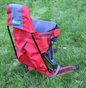 Outbound baby backpack carrier - Red and Blue Kitchener / Waterloo Kitchener Area image 4