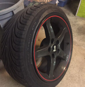 17 inch Mustang Rims + Tires - for Sale in Halifax