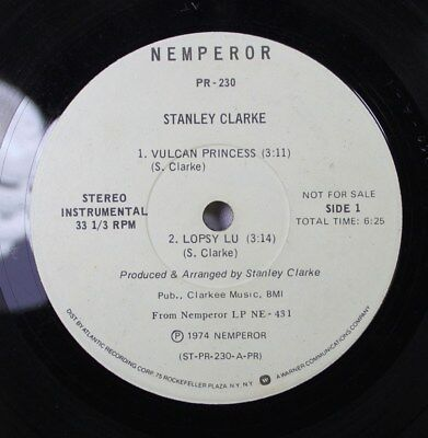 Jazz 45 Stanley Clarke - Vulcan Princess / Spanish Phrases For Strings & Bass On (Spanish For Princess)